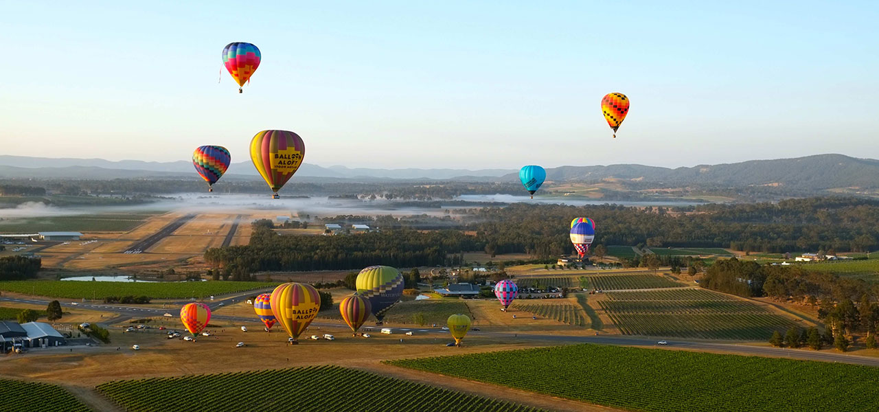 Hunter Valley activities, hot air ballooning